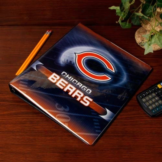 Chicago Bears 1'' 3-ring Team Logo Binder