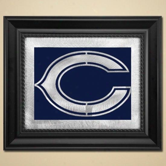 Chicago Bears 11'' X 13'' Framed Laser Edge Metal Artwork