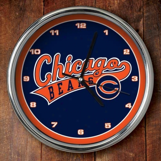 Chicago Bears 12'' Chrome Clock