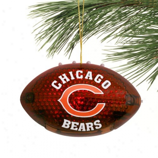 Chicago Bears 4'' Acrylic Light-up Football Ornament