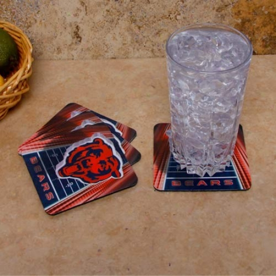 Chicago Bears 4-pack Sublimated Logo Neoprene Coaster Set