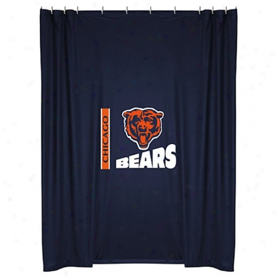 """chicago Bears 72""""x72"""" Shower Curtain"""