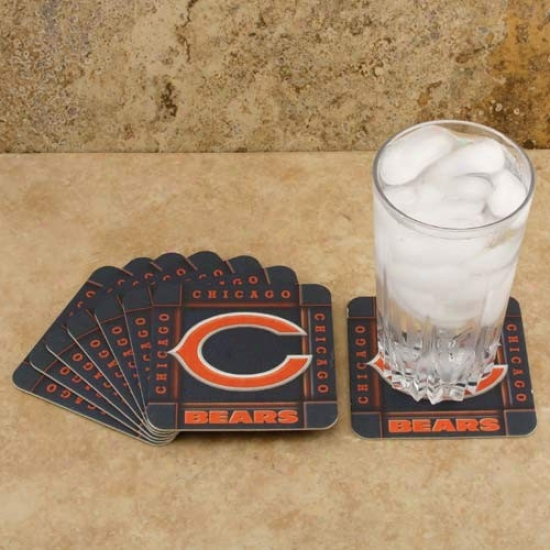 Chicago Bears 8-pack Absorbent Paperkraft Coasters