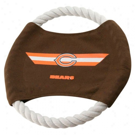 Chicago Bears 9'' Flying Rope Football Disk Dog Toy