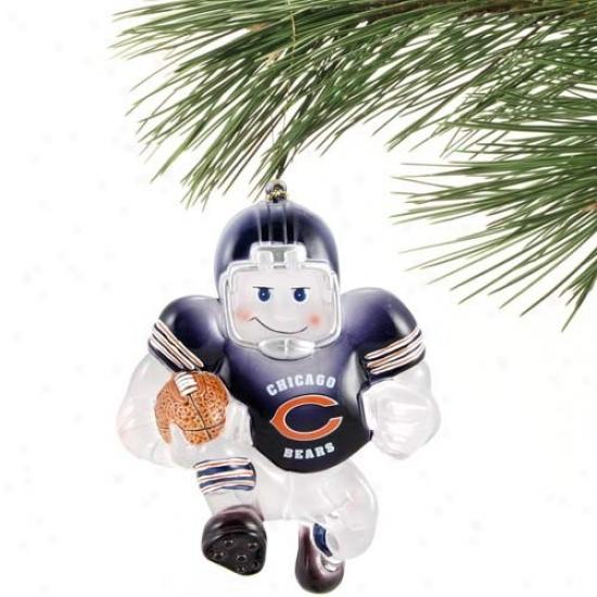 Chicago Bears Acrylic Holidag Ornament
