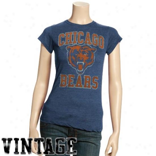 Preschool Chicago Bears Navy Blue Reflection T Shirt