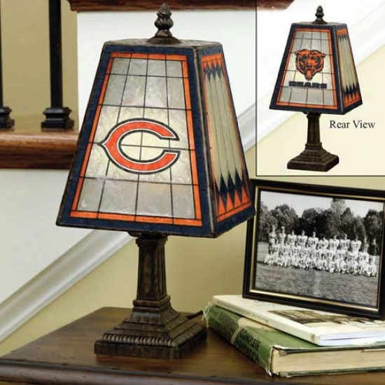 Chicago Bears Art-glass Table Lamp