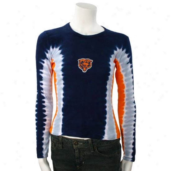 Chicago Bears Attire: Chicago Bears Ladies Tie Dye Long Sleeve T-shirt