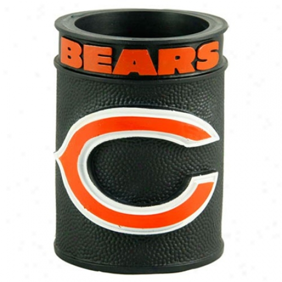 Chicago Bears Black Embossed Plastic Can Coozie