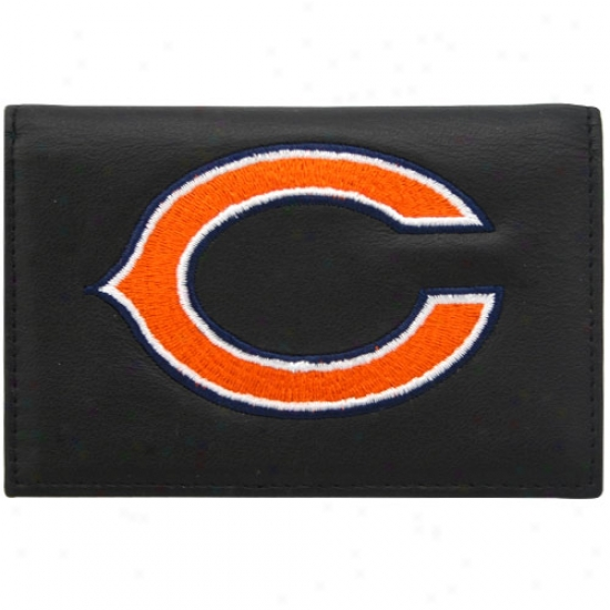 Chicago Bears Black Embroidered Trifold Bag