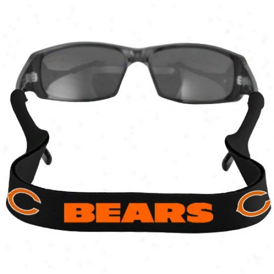 Chicago Bears Black Neoprene Retainer Sunglasses Holder