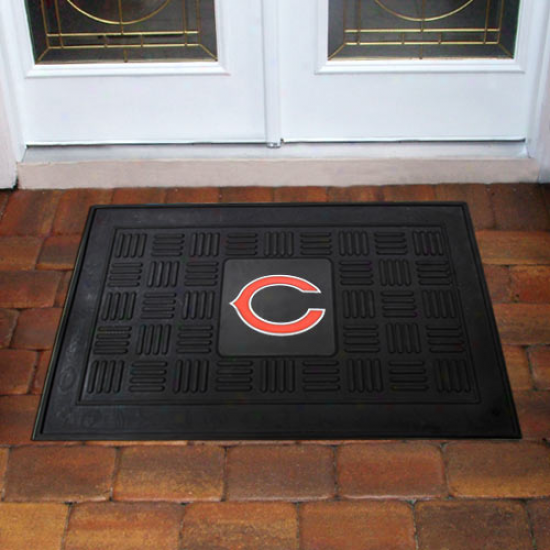 Chicago Bears Black Team Logo Rubber Mat