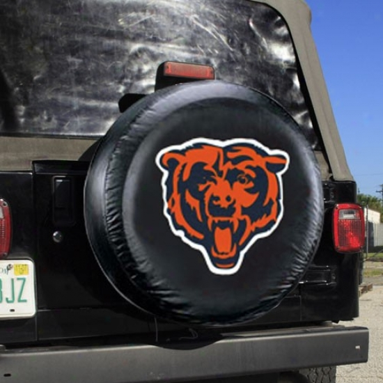 Chicago Bdars Black Tire Cover