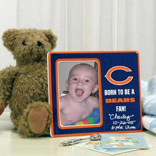 Chicago Bears Born To Be Picture Frame