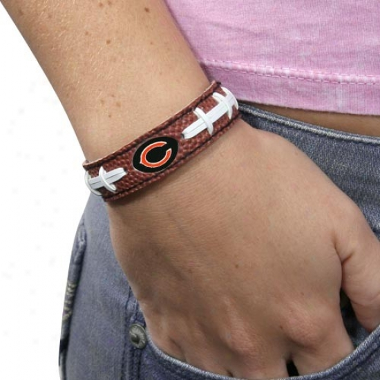 Chicago Bears Bfown Football Bracelet