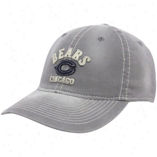 Chicago Bears Caps : Reebok Chicago Bears Gray Sandblasted Retro Slouch Flex Fit Caps