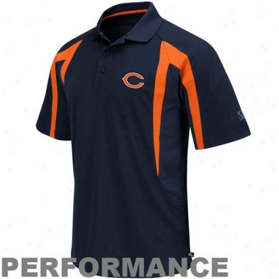 Chicago Beats Clothing: Chicago Bears Navy Blue Field Classic Iii Performance Polo