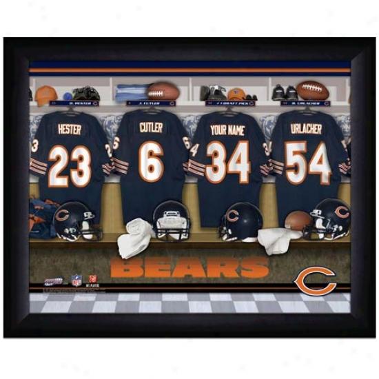 Chicago Bears Customized Locker Room Black Framed Photo