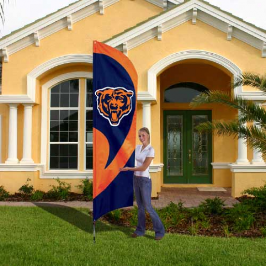 Chicago Bears Flag : Chicago Bears Tall Applique Team Flag