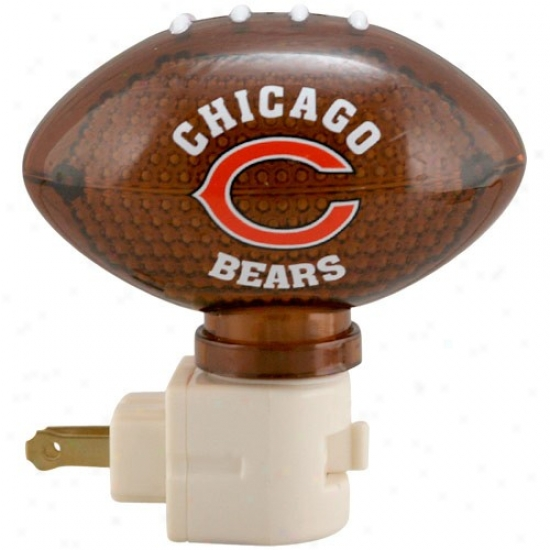 Chicago Bears Football Night Window