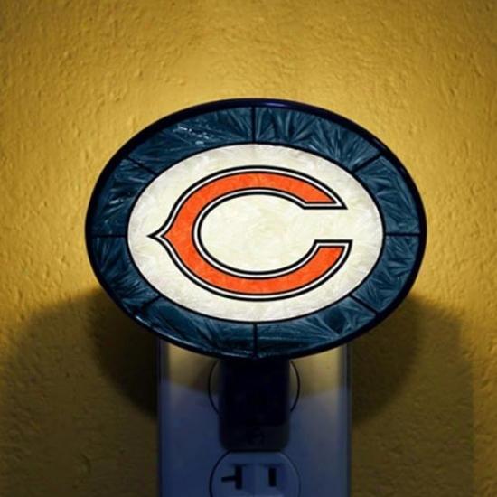 Chicago Bears Hand-painted Glaqs Nightlight