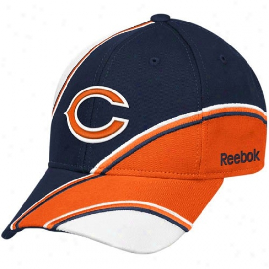 Chicago Bears Cardinal's office : Reeok Chicago Bears Navy Blue-orange Structured Adjustable Hat