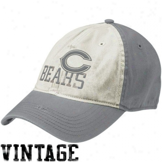 Chicago Bears Hats : Reebok Chicago Bears Natural-gray Random Vintage Flex Fit Hats