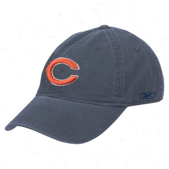 Chicago Bears Hats : Reebok Chicago Bears Navy Blue Ladies Basic Slouch Hats