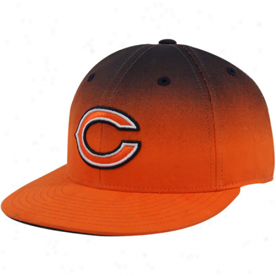 Chicago Bears Hats : Reebok Chicago Bears Orange-navy Blue Gradiated Fitted Hats