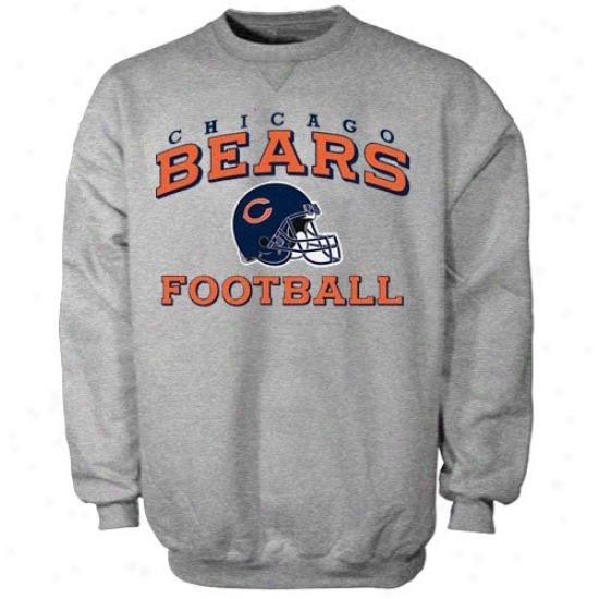 Chicag0 Bears Hoody : Reebok Chicago Bears Ash Stacked Helmet Hoody