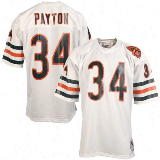 Chicago Bears Jersey : Mitchell & Ness Chicago Bears #34 Walter Payton White Throwback Football Jersey