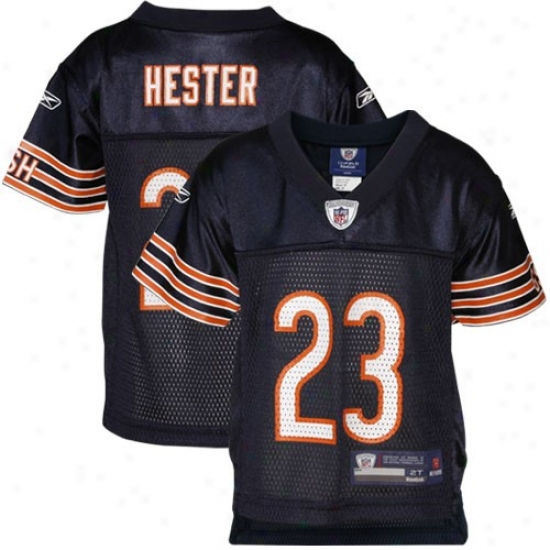 Chicago Bears Jersey : Reebok Chicago Bears #23 Toddler Devin Hester Navy Blue Replica Football Jersey