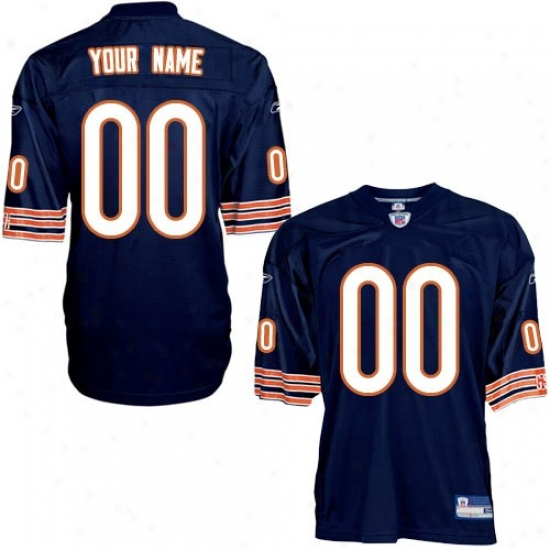 Chicago Bears Jersey : Reebok Nfl Equipjent Chicagoo Bears Navy Blue Authentic Customized Jersey