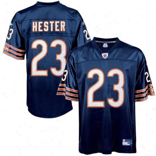 Chicago Bears Jersey : Reebok Nfl Equipment Chicago Bears #23 Devin Hester Navy Blue Youth Autograph copy Football Jersey