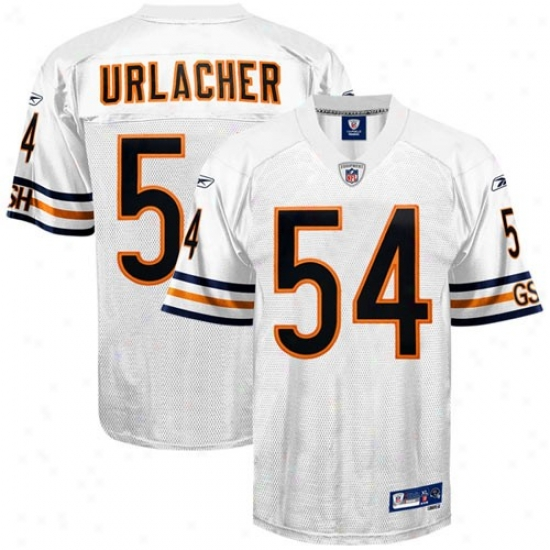Chicago Bears Jerseys : Reebok Nfl Equipment Cbicago Bears #54 Brian Urlacher White Premier Tackle Twill Jerseys