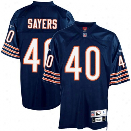 Chicago Bears Jerseys : Reebok Nfl Equipment Chicago Bears #40 Gale Sayers Navy Blue Tackle Twill Throwback Football Jerseys