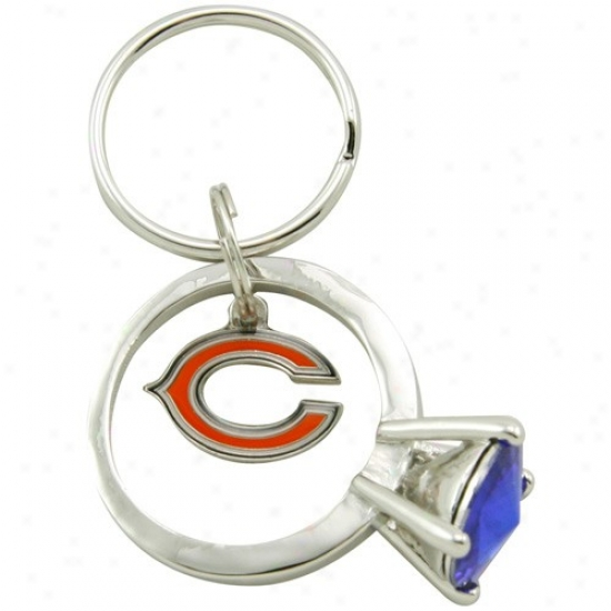 Chicago Bears Jumbo Bling Ring Keychain