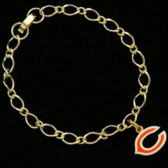 Chicago Bears Ladies Gold-tone Charm Bracelet
