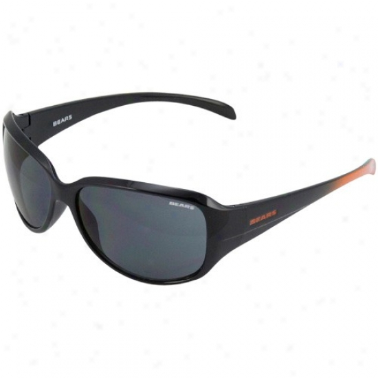 Chicago Baers Ladies Navy Blue-orange Fade Velocity Sunglasses
