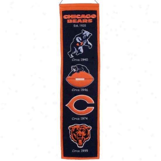 Chicago Bears Navy Blue Heritage Banner