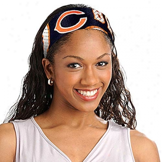 Chicago Bears Navy Blue Nfl Fanband Jersey Headband