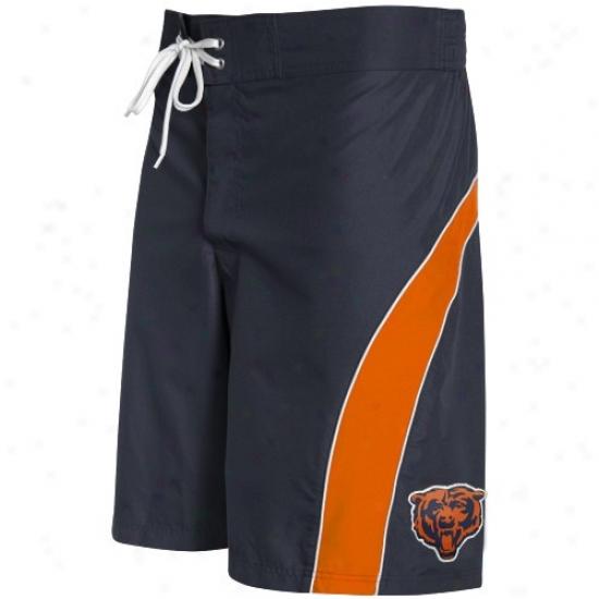 Chicago Bears Navy Blue-orange Color Block Boarddhort