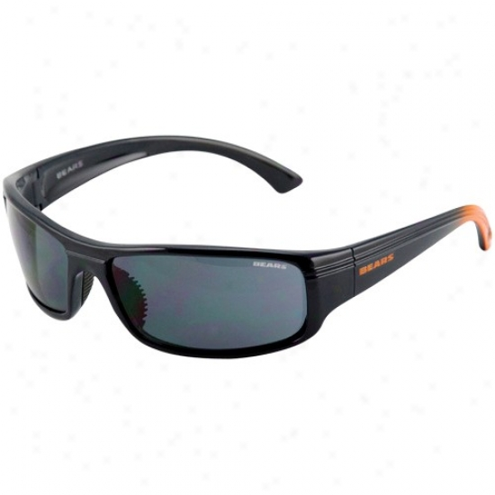 Chicago Bears Navy Blue-orange Fade Block Sunglasses