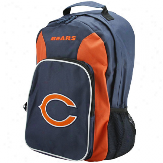Chicago Bears Navy Blue-orange Southpaw Backpack