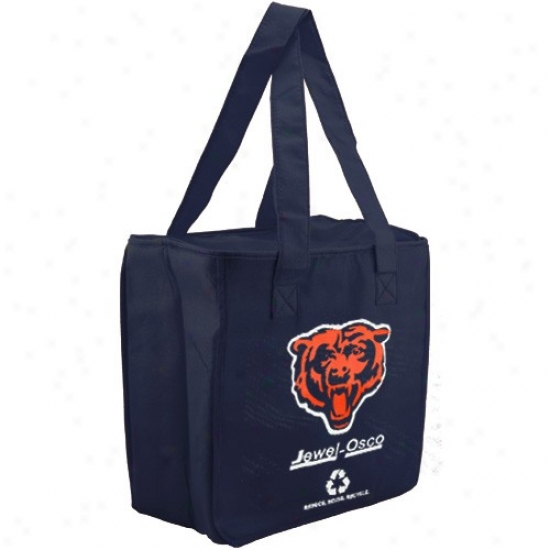 Chicago Bears Navy Blue Reysable Insulated Tote Bag