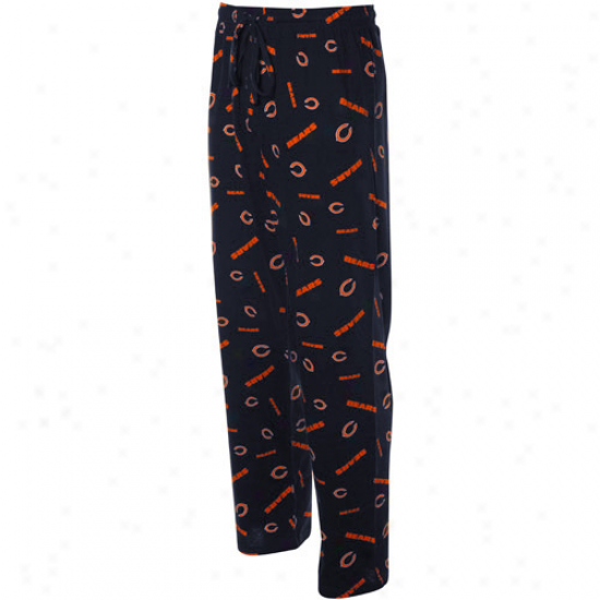 Chicago Bears Navy Blue Team Faithful Ii Pajama Pants