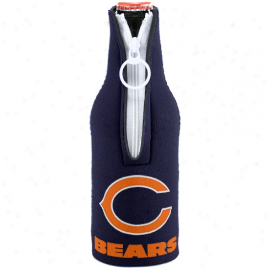 Chicago Bears Navy Neo;rene Bottle Coozie
