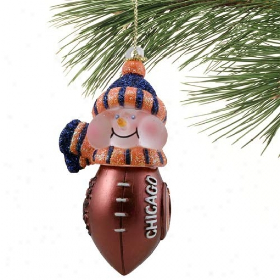 Chicago Bears New All-star Ligbt-up Snowman Ornament