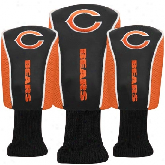 Chicago Bears Orange 3-pack Barrel Headcovers