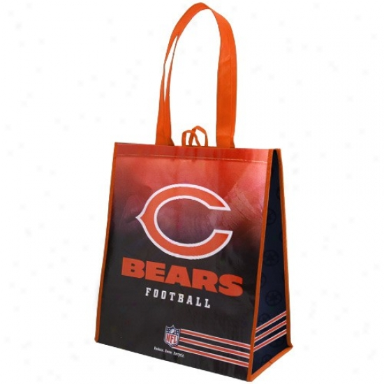 Cgicago Bears Orange-navy Blue Fade Reusable Tote Bag